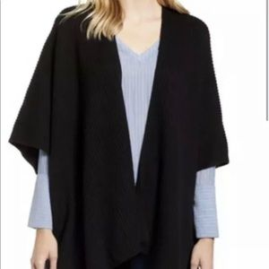 New All Saints Ruana black Cardigan OS